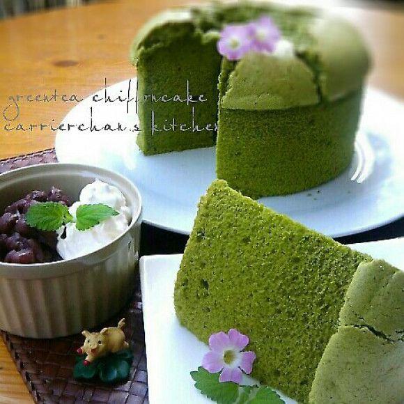 あれ!?簡単♪ふかふかしっとり♡基本の抹茶シフォンケーキ♡