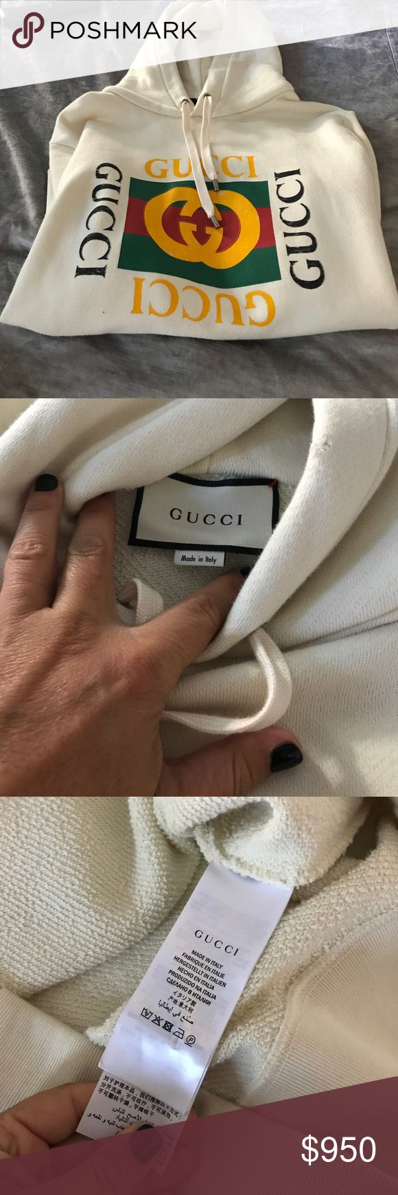 100% Authentic Gucci sweatshirt 100% Authentic Gucci sweatshirt Purchased from Gucci online worn only a few times comes with tags and receipts retail $1200 unisex small Gucci Tops Sweatshirts & Hoodies