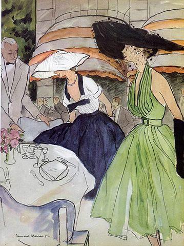 Jacques Fath, 1952. Illustration: Bernard Blossac.