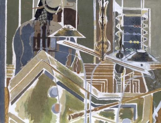Georges Braque The Billiard Table 1945 oil and sand on canvas 89 x 116cms
