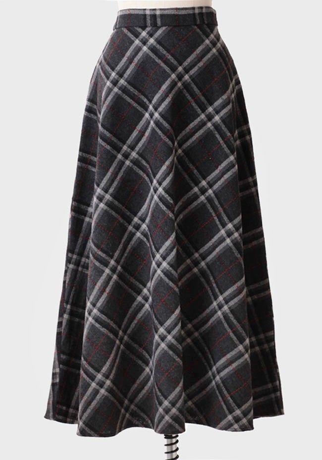 St. Margaret Plaid Maxi Skirt