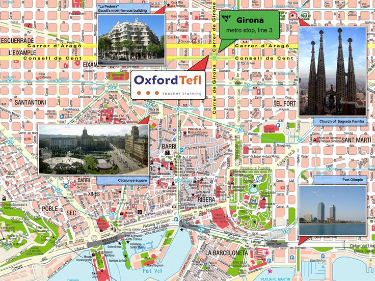 Barcelona Sightseeing Map | Barcelona Tourist Map See map details From europe-hotels.gr
