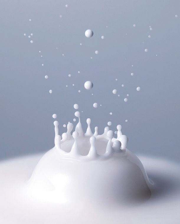 Improve your water drop photography: try using milk