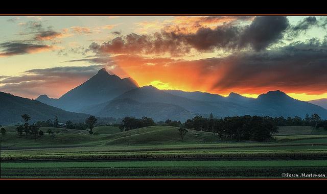 Sunset over Mount Warning - Murwillumbah