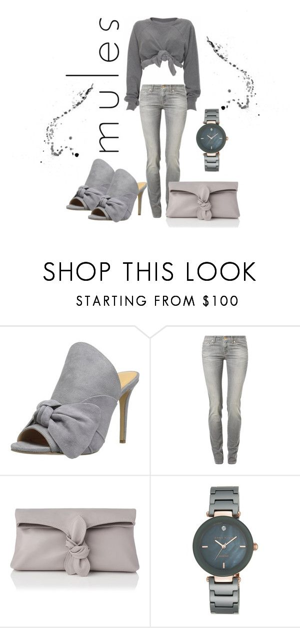 """""""Untitled #320"""" by clairelennon ❤ liked on Polyvore featuring Daya, Ashish, 7 For All Mankind, L.K.Bennett and Anne Klein"""
