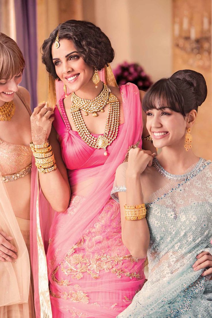 Choose the right bridal jewellery according to your skin tone and face shape
