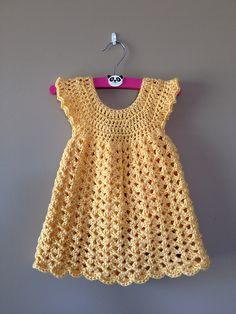 Free Crochet Dress Pattern for Newborn                                                                                                                                                     More