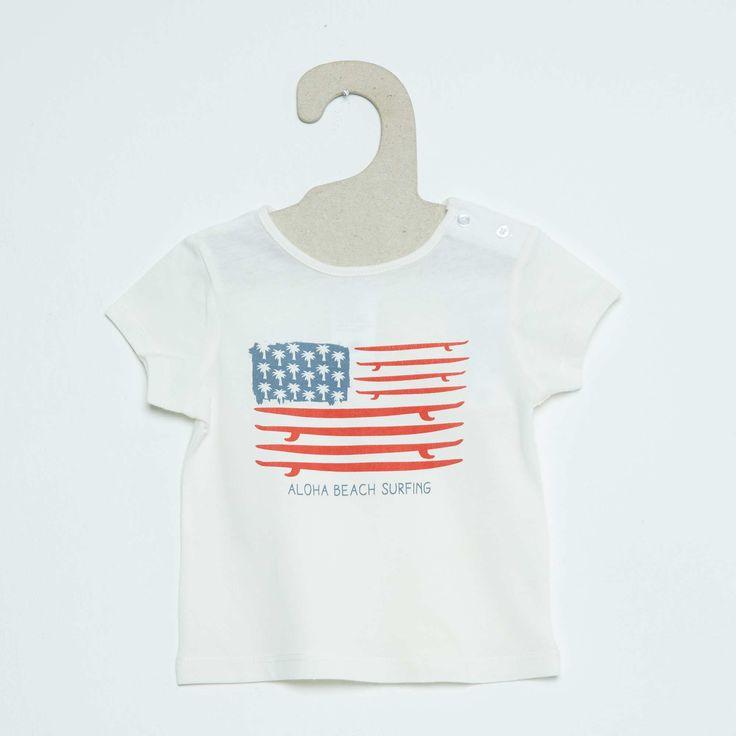 Tee-shirt à manches courtes impression fantaisie Bébé garçon - Kiabi - 2,00€