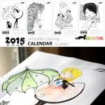 Coloring Calendar for girls – 2015