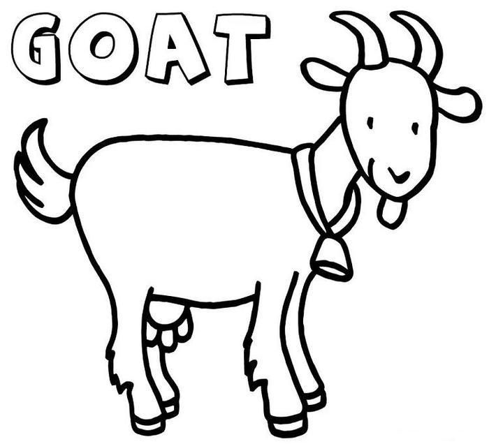 Goat Coloring Pages For Kids Coloring Pages For Kids Coloring Pages Cartoon Coloring Pages