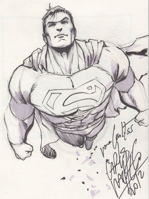Superman sketch by Pesquisa