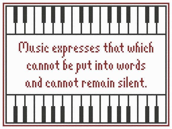 Set of Three MUSICAL EXPRESSIONS Cross Stitch by neverdyingpoet, $5.00