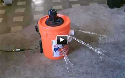 """BUCKET AIR conditioner   Homemade Air Conditioner - The """"5 Gallon Bucket"""" Air Cooler! - can be ..."""
