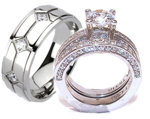 45 best His Her Wedding Ring Sets images on Pinterest Wedding band