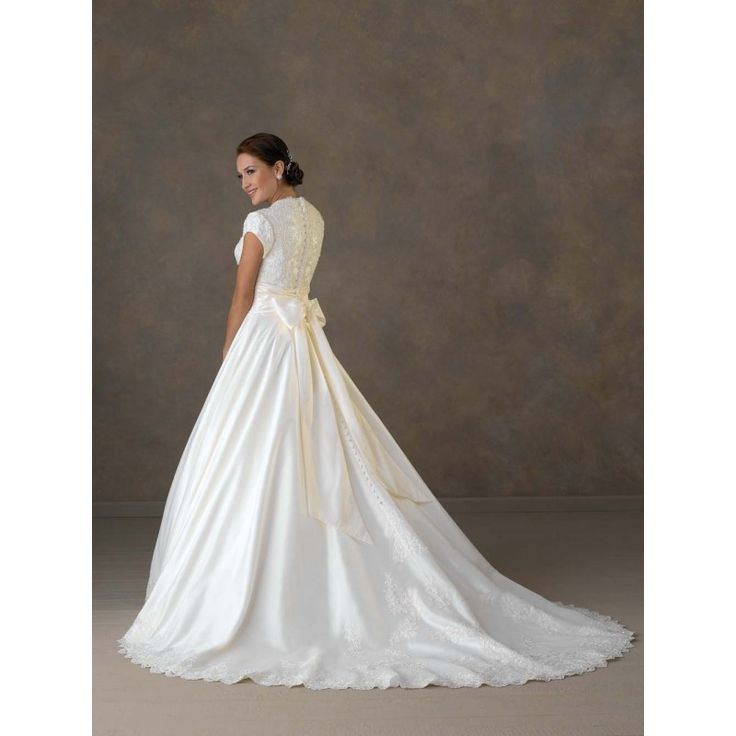 8 best simple modest wedding dresses images on pinterest for Short modest wedding dresses