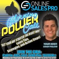 Morning Power Call - Experiences Over Items, Story Marketing, Fear Of Loss OR Potential For Gain by Online Sales Pro on SoundCloud
