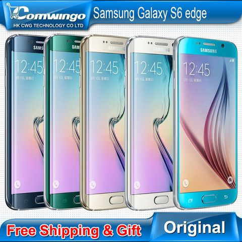 "Original Samsung Galaxy S6 Edge G925F G920F Mobile Phone Octa Core 3GB RAM 32GB ROM LTE 16MP 5.1""inch Android 5.0 Smart Phone"