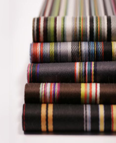 Stripes by Paul Smith for Maharam, 2006. Michael Maharam Talks Collaboration. via designer pages
