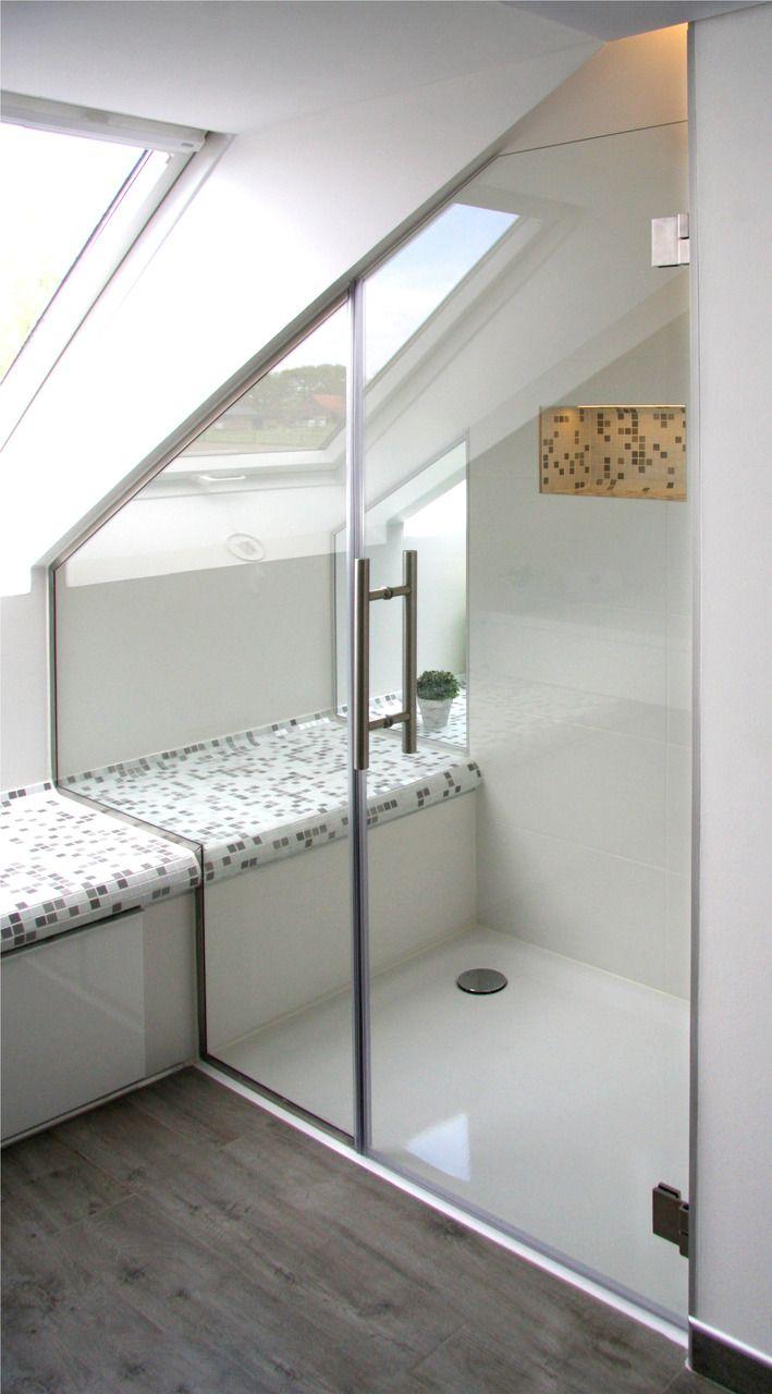 Nischendusche Badezimmer Dachschrage Badezimmer Duschtur