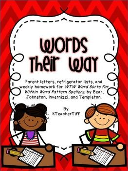 Words Their Way for Within Word Pattern Spellers Homework and parent information packet $ on TpT... an easy way to communicate word study to parents and give homework!