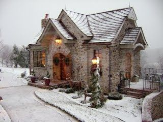 Small town stone cottage in England. ♥
