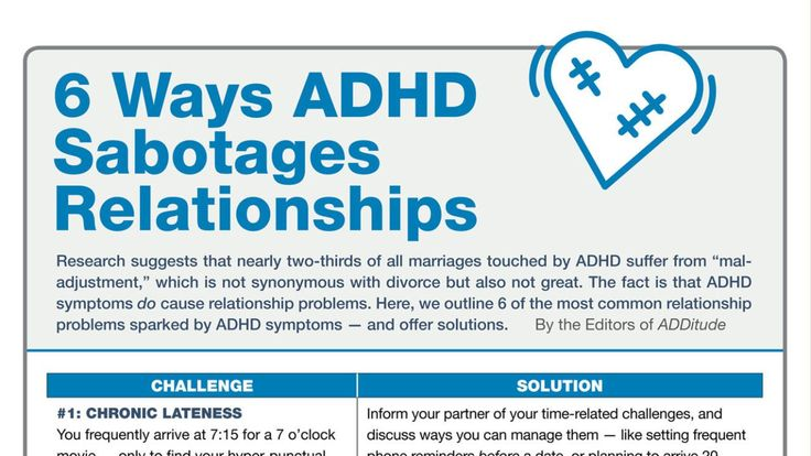 adhd and relationship problems