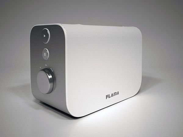 With straight lines and a unique simplicity, this toaster mark the difference through the feedback transmitted to the user - by a LED's loading.