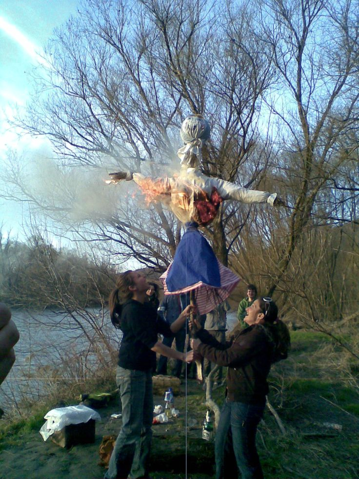 Burning of Morena  (two weeks before Easter) is one of the most ancient customs preserved until these days in Slovakia (as well as Czech rep. and Poland) held late in the winter and it expresses the peoples desire to do away with the cold weather and to call the warm rays of the sun.