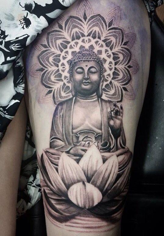 Buddha dot tattoo