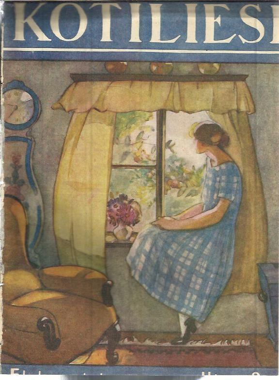 Kotiliesi Magazine cover by Martta Wendelin, 1926.
