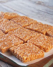 No-Bake Peanut Butter Rice Krispies Bars. Anything with corn syrup in it has to be a winner.
