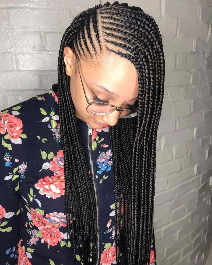 #17: Side-Parted Loose Cornrows