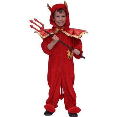 Pluche duivel kostuum voor kinderen. Het pluche duivel kostuum voor kinderen is…