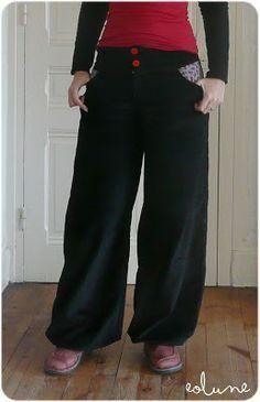 Comment transformer un patron de pantalon normal en pantalon bouffant - #tuto #pantalon