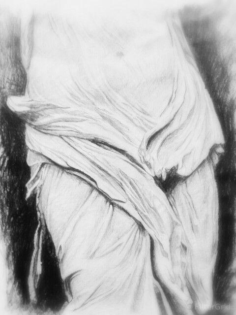 Drapery pencil drawing