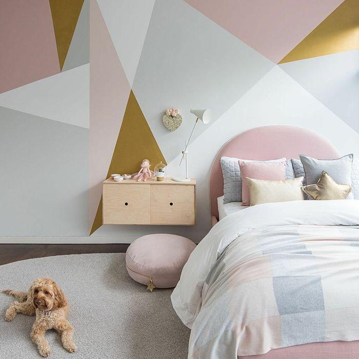 1001 Idees De Decoration De Chambre De Fille En Rose Et Gris En 2020 Deco Chambre Grise Chambre Grise Idee Decoration Chambre