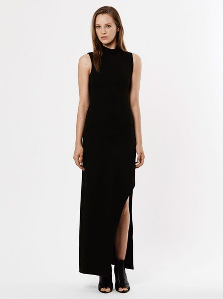 RUBY SEES ALL - Party Of Lovers Dress - Black - Long - Side Split - Strech Fabric $159.90