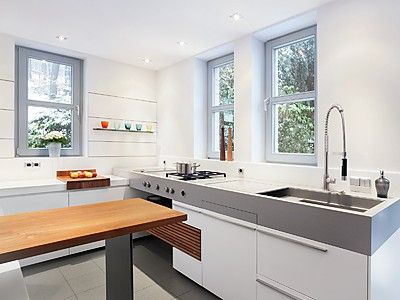 Die besten 25+ Küche mit theke Ideen auf Pinterest Küchentheke - durchreiche kuche wohnzimmer modern