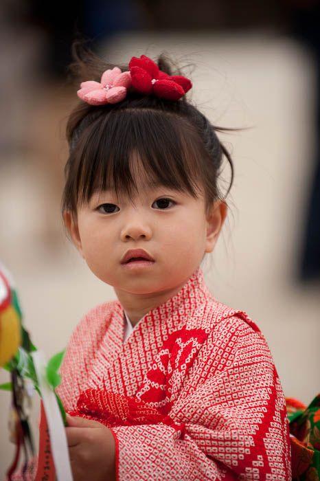 Red Kimono Girl, Japan