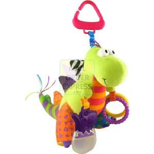 RC2 Lamaze Spike the Dinosaur  Bright patterns and different textures with teether  http://www.comparestoreprices.co.uk/educational-toys/rc2-lamaze-spike-the-dinosaur.asp