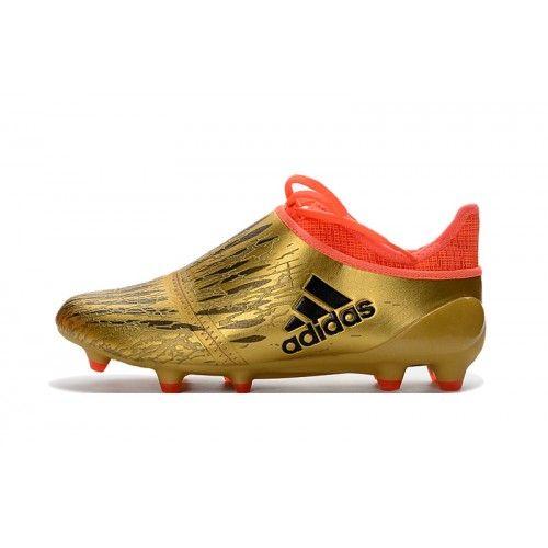 новейший футбольныебутсы Adidas X 16 Purechaos FG AG золото оранжевый - бутсы Adidas X