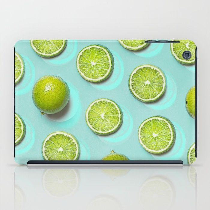 FRUIT II iPad Case #ipadcase #ipad #case #trend #lime #limefruit #limegreen #fruit #pattern #accessory #decor #trending #trendy #green #turquoise