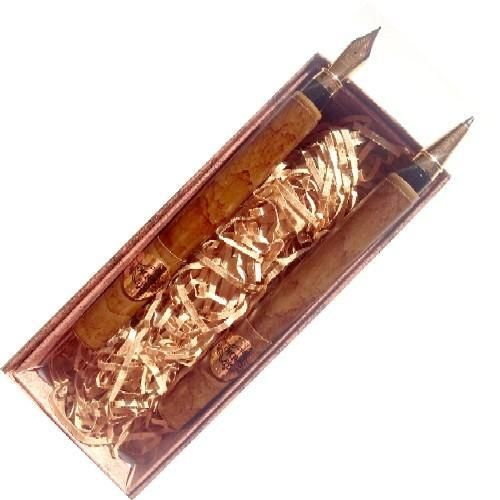 Gravírozható két darabos kubai szivar alakú tollkészlet díszdobozban - Golyóstoll és töltőtoll - Smoke Ft Ár 2,390 Ft Ár Tollkészletek