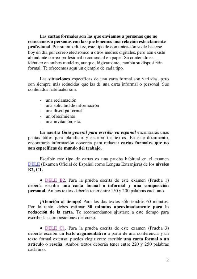 modelo de una carta de solicitud dele c1