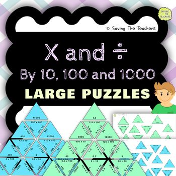 Multiplying and Dividing by 10, 100, and 1000 Large and Small Puzzles