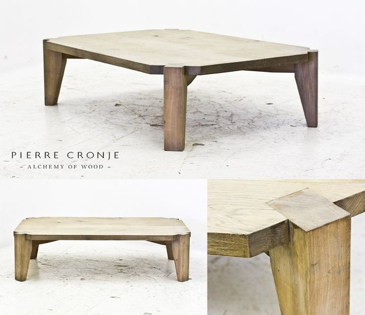 Pierre Cronje Rectangular Metro Coffee Table in French Oak