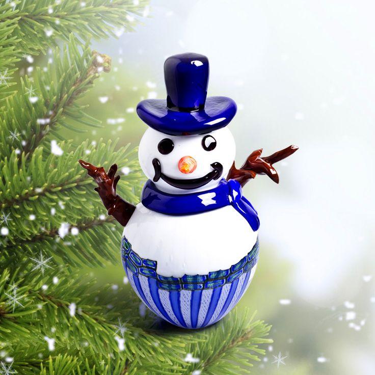 CALVIN snowman by DIPI #yourmurano #glassart #christmas