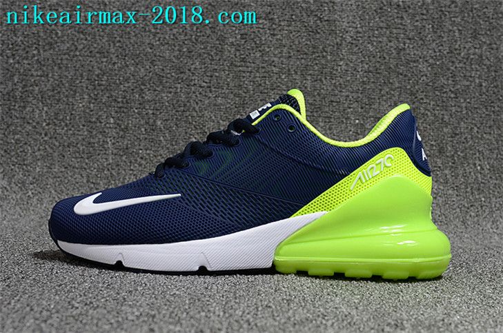 info for a42dd f1d8f Nike Air Max 270 KPU New Style Mens Running Shoes For Sale Navy Blue White  Green