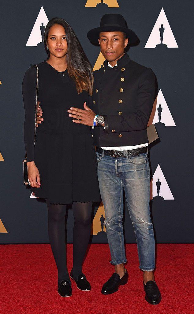 Pharrell Williams & Helen Lasichanh: Governors Awards 2016 Red Carpet Arrivals