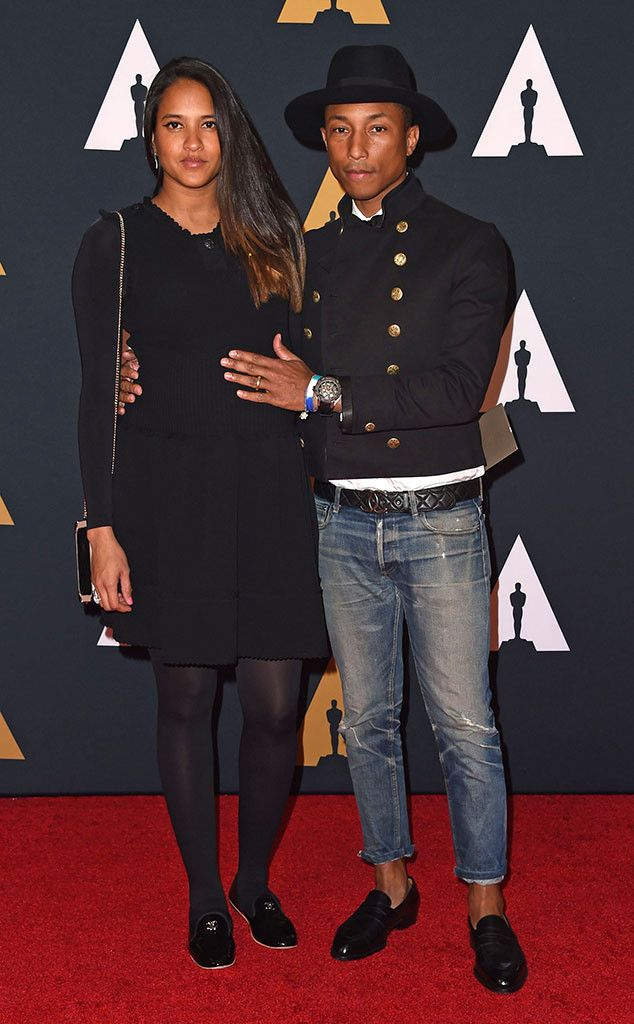 Pharrell Williams & Helen Lasichanh: Governors Awards 2016 Red Carpet Arrivals